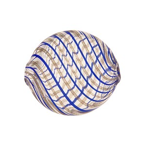 Blown Murano Glass Bead, Cobalt Blue & Aventurina, 25mm
