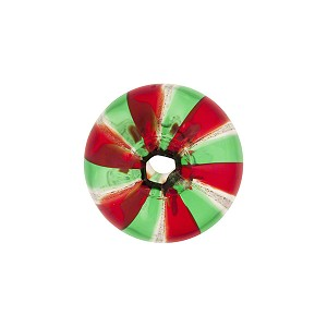 Red, Green,  Aventurina Cipollina Blown Spiral Lines