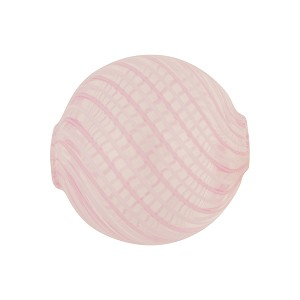 Pink, White Venetian Glass Blown Beads Spiral 20mm