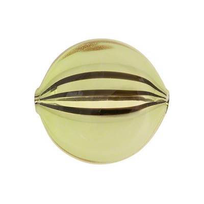 Peridot, Black Windows Blown Penny 20mm, Murano Glass