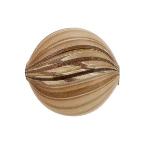Murano Glass Blown Windows Disc 20mm, Taupe
