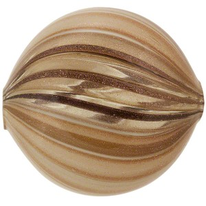 Murano Glass Blown Windows Disc 30mm, Taupe