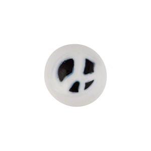 Murano Glass Millefiori Cabochon 14mm White Black Dots