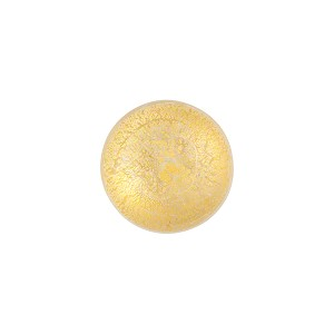 Clear & Gold Foil Murano Glass Cabochon Bead, 10mm