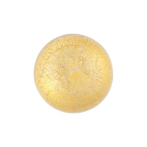 Clear 24kt Gold Foil Venetian Cabochon Flat Back 16mm
