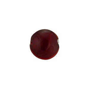 Ruby Red Caramella Style Murano Glass Lentil Bead, 10mm