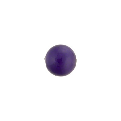 Blu Inchiostro over White Core Murano Glass Bead, 8mm Round