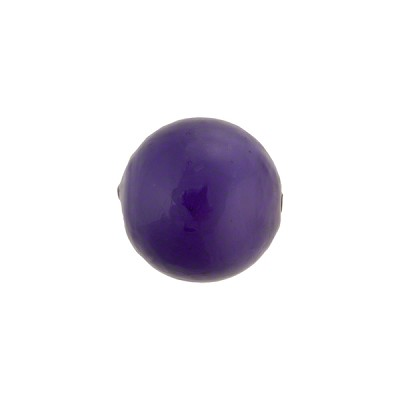 Blu Inchiostro over White Core Murano Glass Bead, 14mm Round
