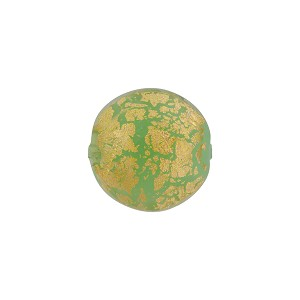 Opaque Green 24kt Gold Foil Ca'd'Oro Murano Glass Disc 14mm