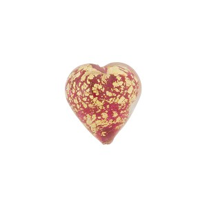 Rubino Ca'd'oro Gold Heart 12mm