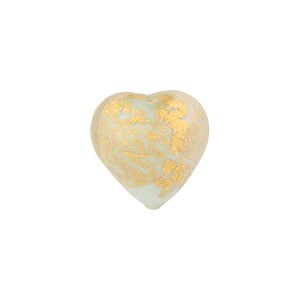 Celeste Ca'd'Oro Opaque Gold Heart 12mm Murano Glass Bead