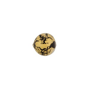 Murano Glass Ca'd'Oro 8mm Round Bead, Black and Gold