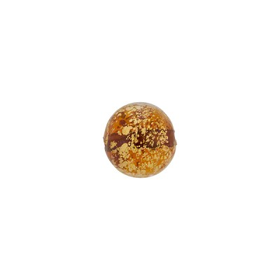 Murano Glass Ca'd'Oro 8mm Round Bead, Topaz and Gold
