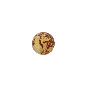 Murano Glass Ca'd'Oro 8mm Round Bead, Opaque Red & Gold