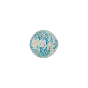 Murano Glass Ca'd'Oro Round Bead, 10mm, Aqua & White Gold