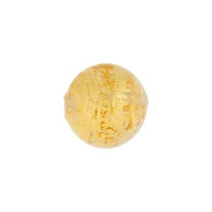 Clear and 24kt Gold Foil Ca'd'Oro Murano Glass Round Bead, 12mm