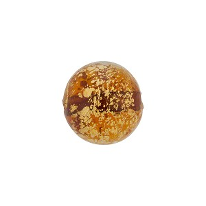 Topaz and 24kt Gold Foil Ca'd'Oro Round 12mm, Murano Glass Bead