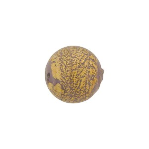 Viola Ca'd'Oro Round 12mm Gold Opaque, Murano Glass Bead