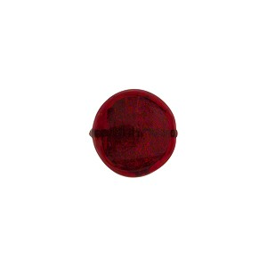 Murano Glass Gold Foil Flat Disc, 10mm, Ruby Red