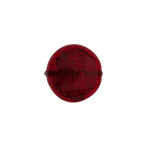 Murano Glass Gold Foil Flat Disc, 12mm, Ruby Red