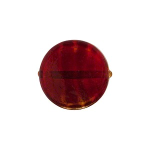 Ruby Red Gold Foil Murano Glass Coin 16mm