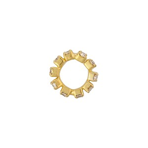 Eternity Rondell 10mm Gold Plate