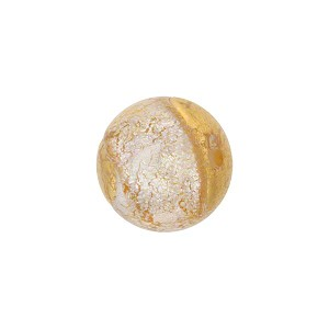 Murano Glass Bead 14mm Dichroic Shimmers Gold Foil Round
