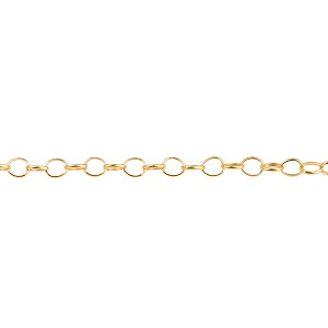 2.4mm 14/20 Gold-Filled Rolo Chain