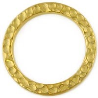 Gold Plated Pewter Hammetone Ring, 25mm, Per Piece