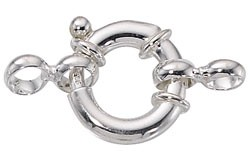 Sterling Silver Heavy Spring Ring w/Loops, 16mm, Per Piece