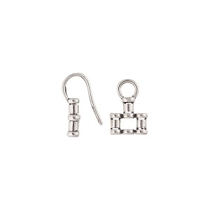 Sterling Silver Pinch End Hook & Eye Clasp, 3 Strand, 30mm