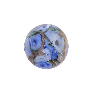 Murano Glass Bead Bed of Roses Round 14mm Blue