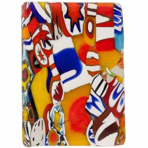 Fused Murano Glass Millefiori Rectangle Multi Millefiori