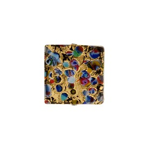 Black 14mm Klimt Square Exterior Gold Foil