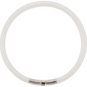 4mm Rubber Tube Necklace 17 Inches, White