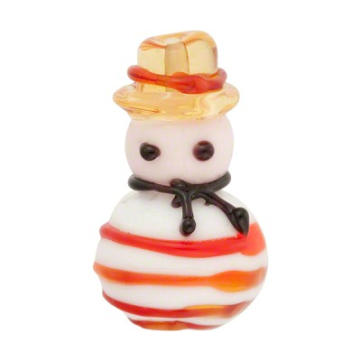 Lampwork Murano Glass Gondolier Bead, 35mm