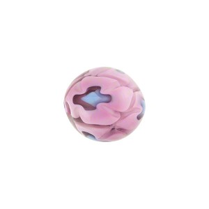 Pink/Blue Mosaico Round 12mm Smooth