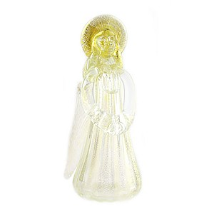 Murano Glass Angel in Clear and Gold