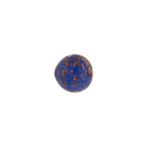 Lapis Blue Sommerso Murano Glass Bead with Aventurina Round, 8mm