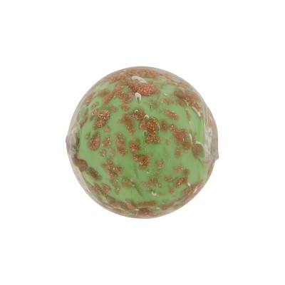 Aventurina Sommerso Round 16mm Green, Murano Glass Bead