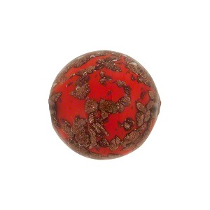 Aventurina Sommerso Round 16mm Deep Red, Murano Glass Bead