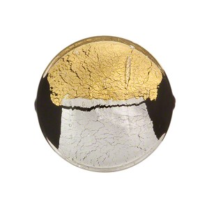 Crystal Pezzato Murano Glass Disc 21m Gold & Silver Foil