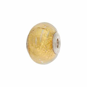 PERLAVITA Due Rondell, 2.5mm Sterling Silver Insert, Clear Gold