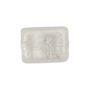 Silver Foil Rectangle 14mm Crystal, Murano Glass Bead
