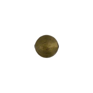 Acciaio, Steel Gray 8mm Gold Foil Round Murano Glass Bead
