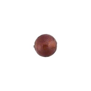 Amethyst 8mm Gold Foil Round, Murano Glass Bead