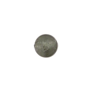 Steel Gray Silver Foil 8mm Round Murano Glass Bead