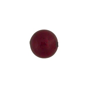 Red (Ruby) 10mm Gold Foil Round, Murano Glass Bead