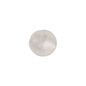 Murano Glass Bead Clear ,925 Sterling Silver Foil 10mm Round