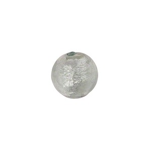 Murano Glass Bead, Alessandrite .925 Sterling Silver Foil 10mm Round